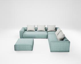 3D model Furniture series - modern sofa - 8