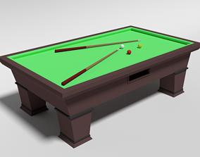 3D model Low Poly Cartoon Carom Billiard Pool