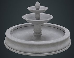 3D asset Fountain 1A