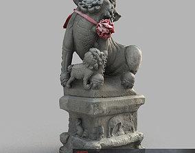 Lion-Statue-014F 3D asset