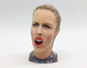 3D printable model Ashley Wagner s Olympic Angry Face