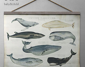 3D SCIENTIFIC WHALE TAPESTRY