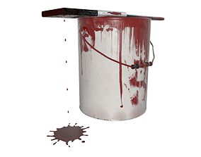 DIY Paint can and brush 3D model