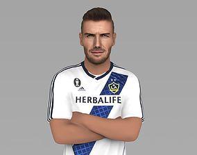 David Beckham LA Galaxy ready for full color 3D printing