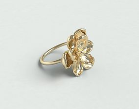 Magnolia ring 3D printable model