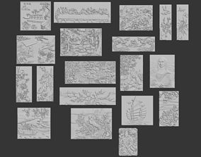 3D WALL Collection -1 -16 pieces 3D model