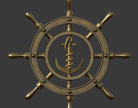 Anchor wheel pendant 3D printable model