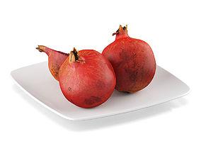Pomegranate fruits 3D