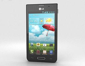 3D model LG Optimus F3 Black