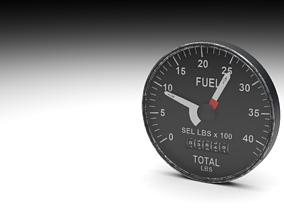 F16 Fuel Quantity Indicator 3D