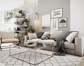 3D model Scandinavian Small House Design