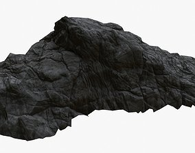 Rock Ground 01 - Black Volcanic 3D asset