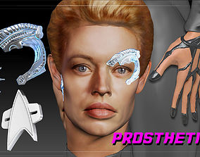 Star Trek Seven of Nine Borg Implants 3D print model 4