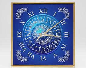 Wall clock Horoscope 3D model