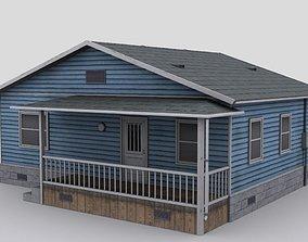 3D asset Wooden house