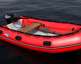 inflatable boat achilles 3D