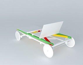 Buildable boxcar 3D model