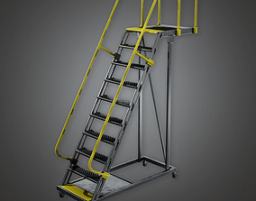 3D asset Standing Rail Ladder - PBR Game Ready