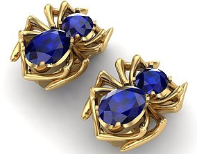 3D print model Earrings sapphire spider