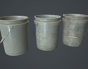 3D asset Plastic Bucket PBR Game Ready