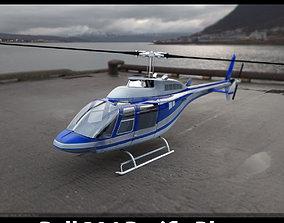 Bell 206 Pacific Blue 3D model