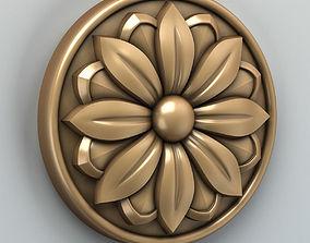 3D Round rosette 002