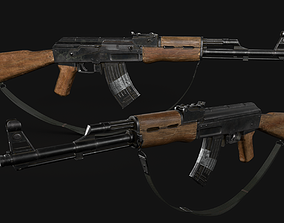 3D model game-ready AK47 game ready
