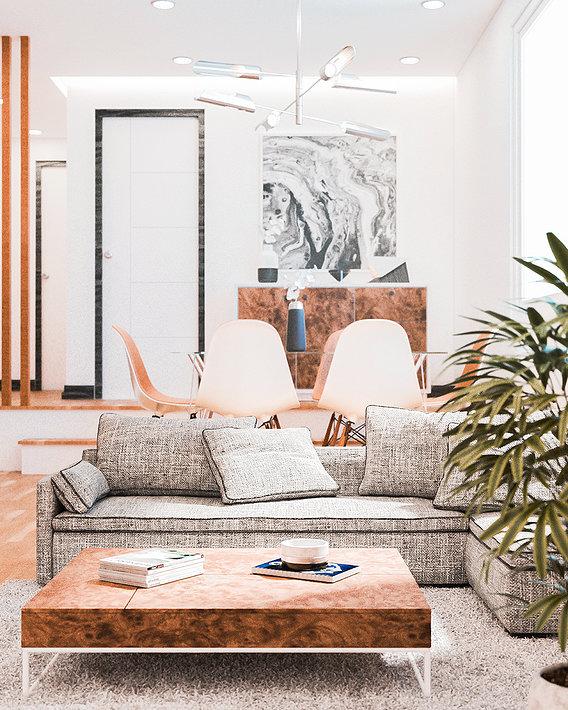 Modern White & Wood Interior