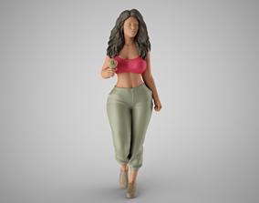Girl Likes Ice Cream 2 3D print model