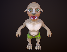 Gremlin 3D model game-ready