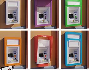 3D model low-poly ATM machine