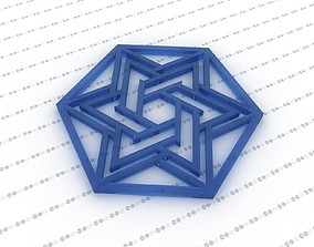3D model Star of David Hexagon interior