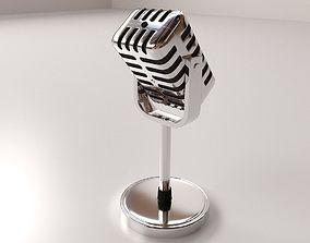 Retro Microphone v2 3D