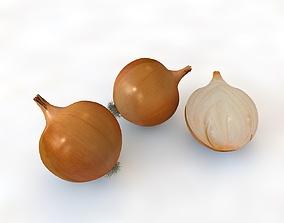 Onion Yellow 3D model