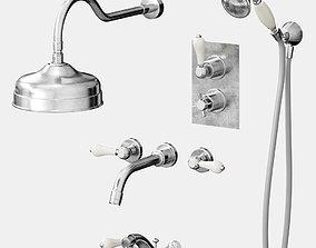 3D model Bathroom Mixer and Taps set