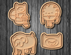 Adventure time cookie cutter set of 7 3D printable model