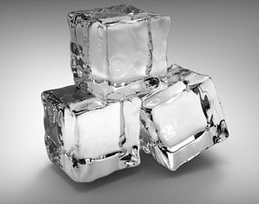 3D drink Ice cubes