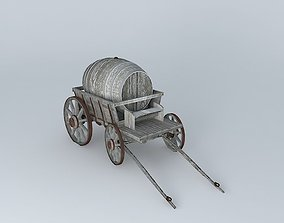 3D model Victorian Barrel Wagon