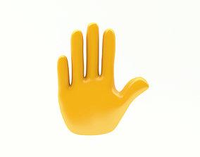 EMOJI HAND STOP ICON 3D model