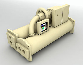 Centrifugal Electric Drive Chiller 3D model