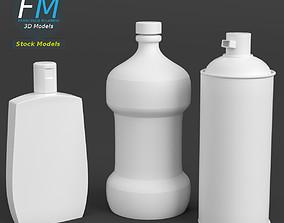 3D model PBR Bathroom bottles set