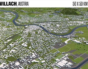 Villach Austria 50x50km 3D