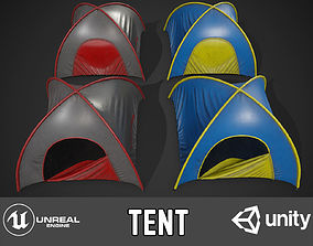 Tent pack 3D model game-ready