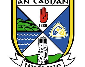 Cavan GAA logo crest 3D print model