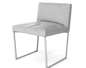 3D White Modern Single Person Chair