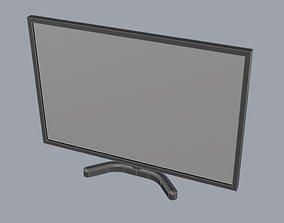 Computer desktop flat screen 3d model game-ready