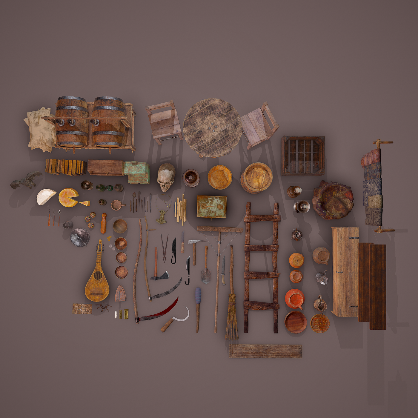 100 Medieval Props