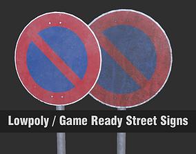 Lowpoly CITY TRAFFIC STREET SIGN No VR / AR ready 5