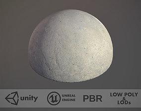 3D model Concrete Hemisphere Barrier pack 1 Three Color