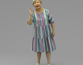 An Old Lady Talking To Somebody 3D